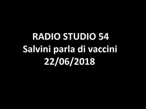 Salvini parla di vaccini radio studio 54