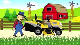 ☻ Lawn Mower | Farmer | Fairy Tales | Rolnik Koszenie Trawy ☻