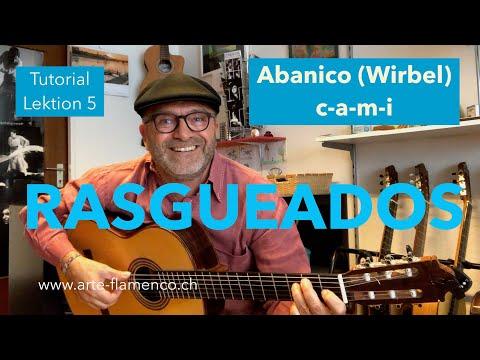 Rasgueados 1 (Abanico) - Flamenco Gitarre Lernen-Tutorial-Lektion 5 (Grundtechnik 2)
