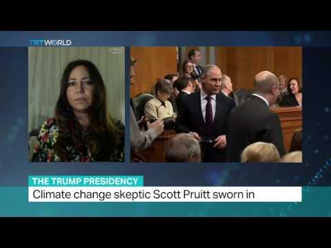 The Trump Presidency: Climate change skeptic Scott Pruitt sworn in