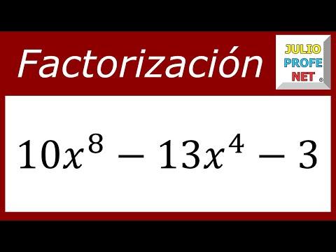 FACTORIZACIÓN DE TRINOMIOS DE LA FORMA Ax²+bx+c - Ejercicio 7