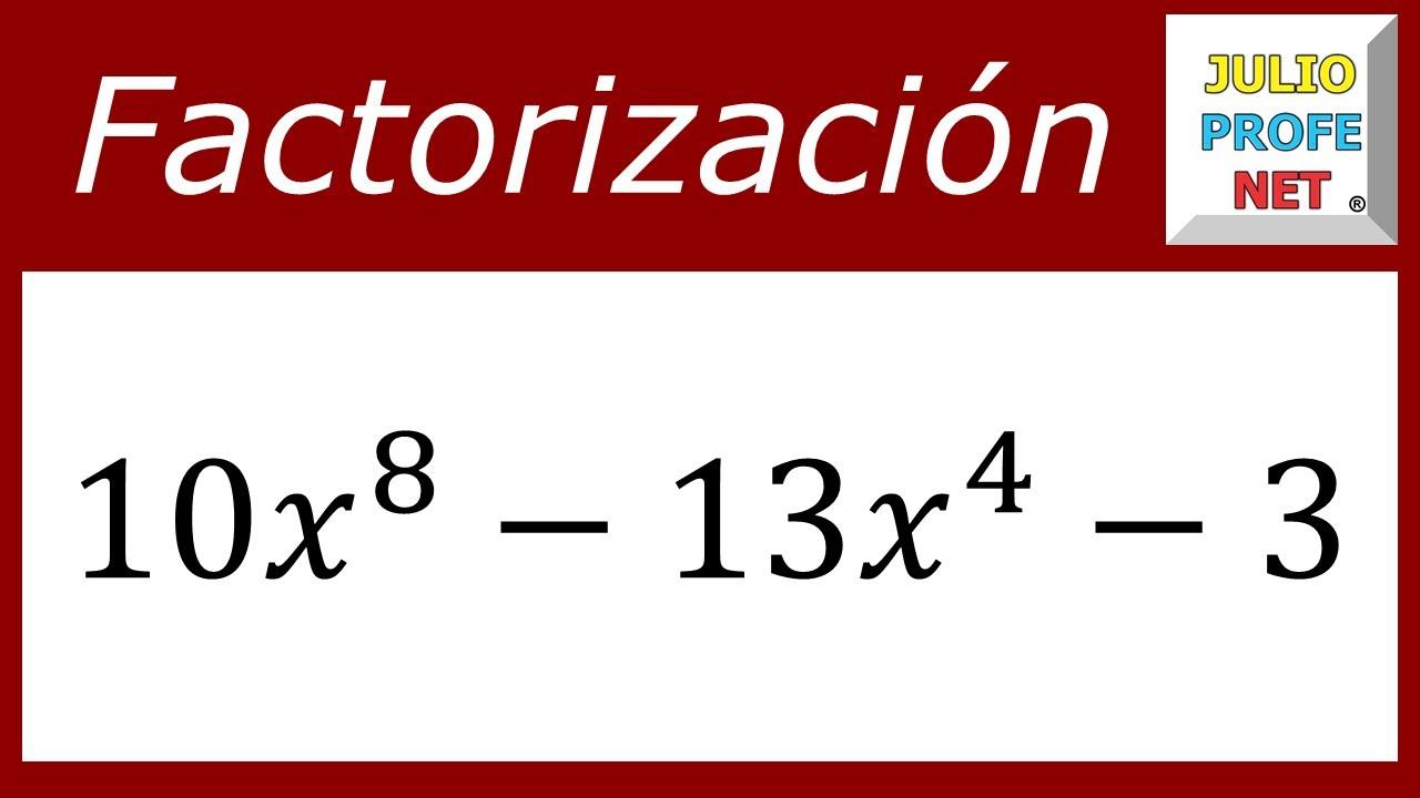FACTORIZACION DE TRINOMIOS DE LA FORMA ax²+bx+c - Ejercicio 7