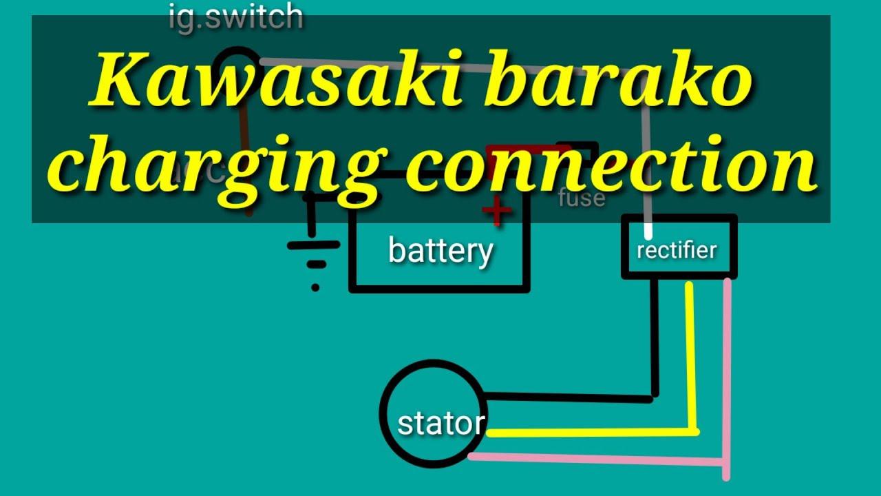 charging system kawasaki barako - youtube  youtube
