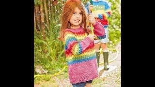 Джемпер для Девочки 5 лет Спицами - 2019 / Sweater For Girl 5 Years / Pullover Für Mädchen 5 Jahre