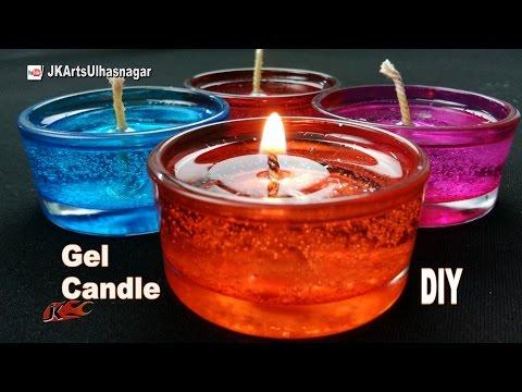 DIY How to make Gel Candles  JK Arts 1089
