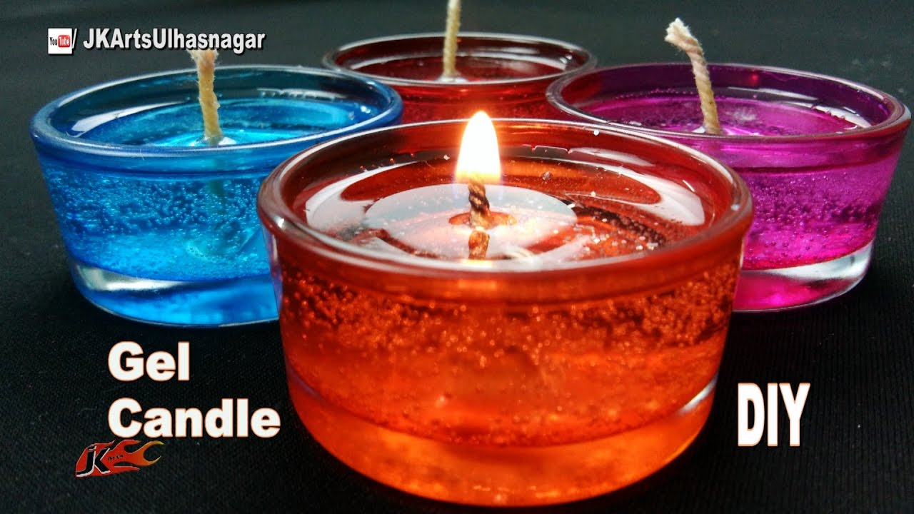 DIY How To Make Gel Candles | JK Arts 1089   YouTube
