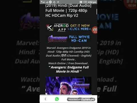 Avengers Endgame (2019) Hindi [Dual Audio] Full Movie | 720p 480p links in  description