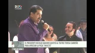 """Presidente Maduro asistió a la obra """"Invicto"""" y dedicó palabras a David Morales y al elenco"""