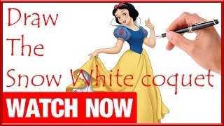 How To Draw The Snow White coquet - Learn To Draw - Art Space