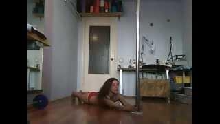 Pole dance. Уроки танцев. Вариант захода на пилон (партер)