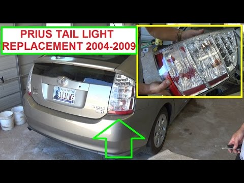 Toyota Prius Tail Light Removal And Replacement Xw20 2004 2009 You