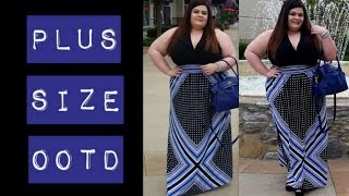 Plus Size OOTD: London Times Maxi Dress Thumbnail