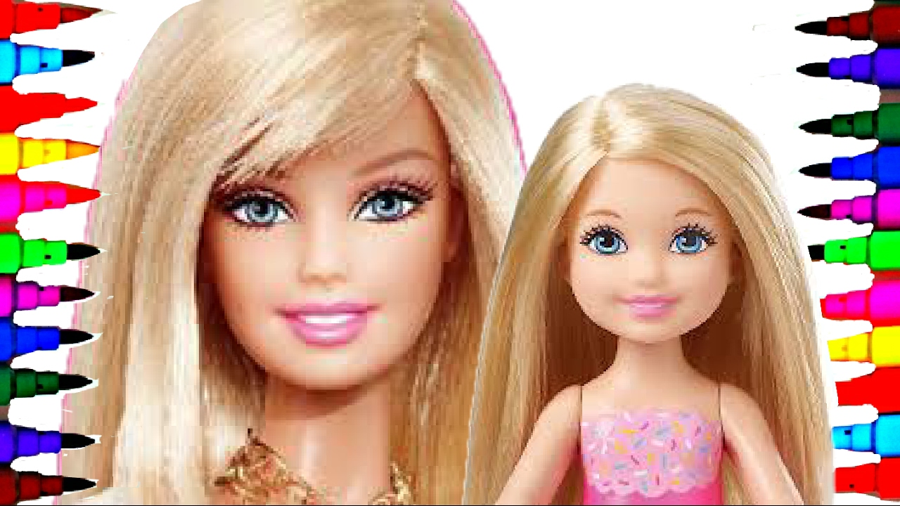 Barbie And Chelsea Best Learning Coloring Book L Page For