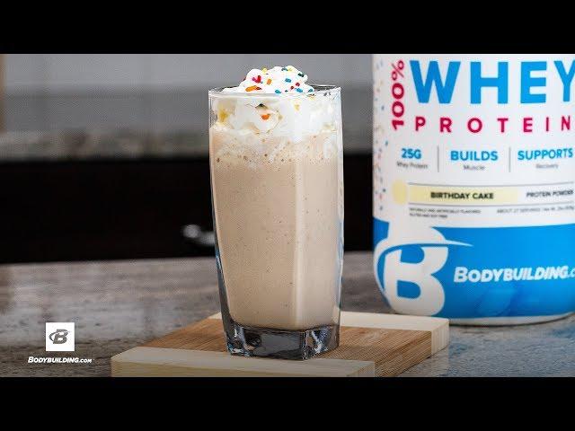 Birthday Cake Protein Shake Recipe [YouTube 動画] クリックで動画がスタンバイされ、もう1回クリックすると再生します
