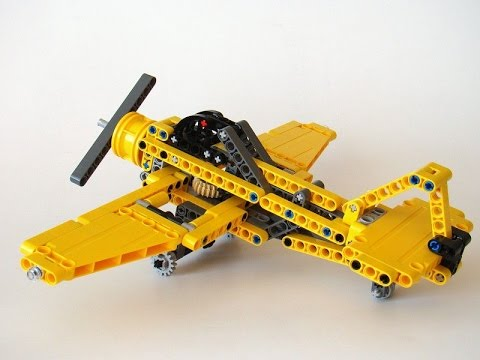 Review lego technic 42035 c-model jet plane - YouTube