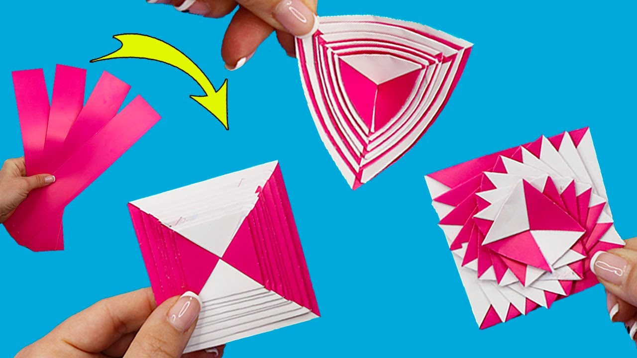 Бумажный АНТИСТРЕСС из полосок! Оригами ИГРУШКА своими руками