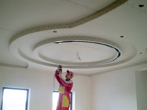 Многоуровневые потолки из гипсокартона – видеоотчет