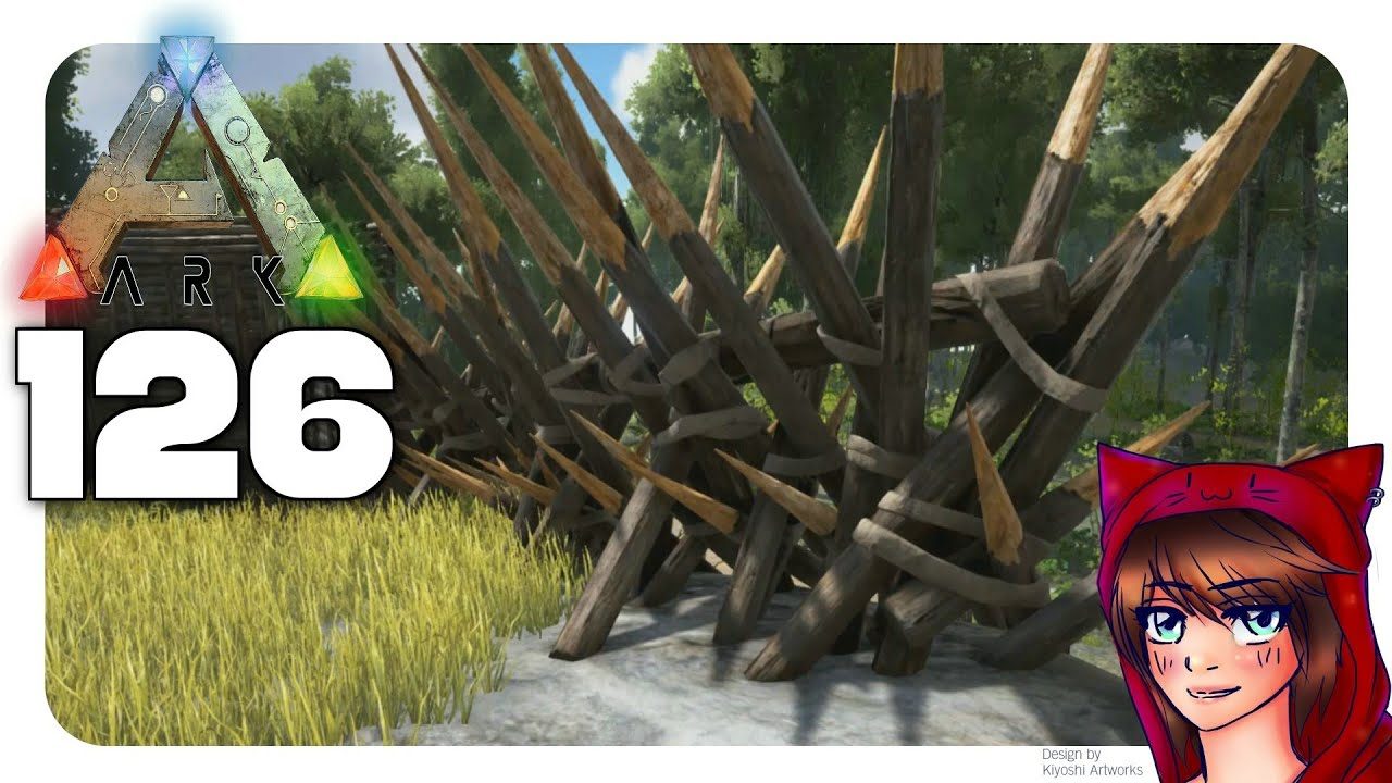 Letu0027s Play ARK Survival Evolved # 126   Wooden Spike Walls   YouTube