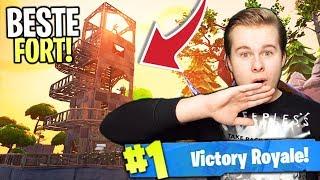EEN FORT GEBOUWD OP PRECIES DE JUISTE PLEK!! - Fortnite Battle Royale (Nederlands)