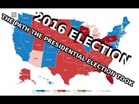 2016 PRESIDENTIAL ELECTION TIMELAPSE ELECTORAL VOTES