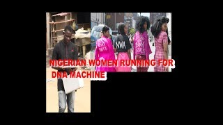 NIGERIAN WOMEN RUNNING FROM DNA MACHINE, AFTER WOMAN JUMP INTO LAGOON