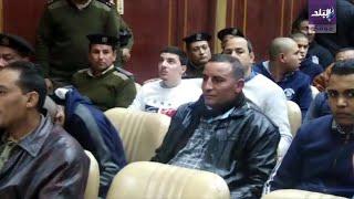 الفيديو الكامل للحكم على قاتل محمود البنا من لحظة وصوله للمحكمة حتى انهياره
