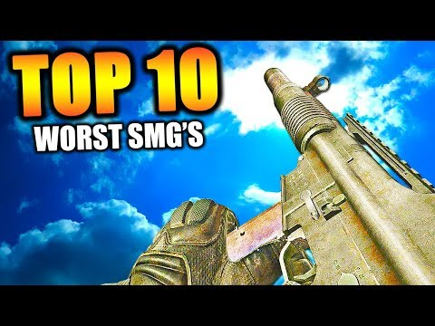 "Top 10 ""WORST SMG's"" in COD HISTORY (Call of Duty) 