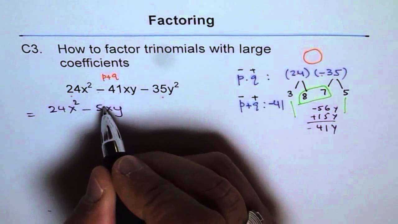 Factoring Trinomials with Large Numbers C3 - YouTube