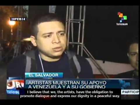 Salvadoran artists speaking for peace in Venezuela
