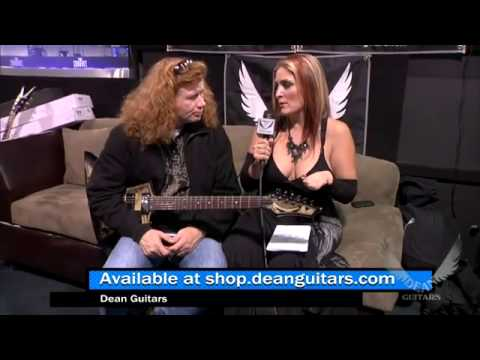 Full Metal Jackie interviews Dave Mustaine of Megadeth at Dean Booth - NAMM 2013