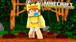 MINECRAFT ADVENTURES - BABY DUCK POOPS ALL OVER THE ZOO