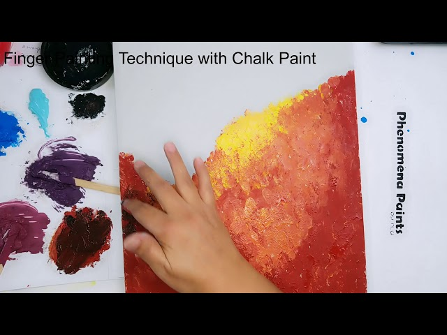 Finger Painting with Chalk Paint - Part 1