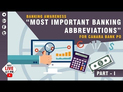 Most Important Banking Abbreviations | TOP 100 | banking awareness | Jackson
