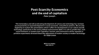 The End of Capitalism, June 20th 15 - Peter Joseph [The Zeitgeist Movement]