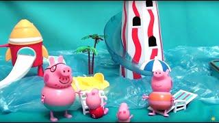 Мультфильм 🔴Peppa Pig🔴  Свинка Пеппа. Аквапарк(Peppa Pig свинка Пеппа и ее семья. Мультфильм для детей. Аквапарк. Сегодня семья Пеппы поехала в аквапарк. У кого..., 2015-08-14T00:55:02.000Z)