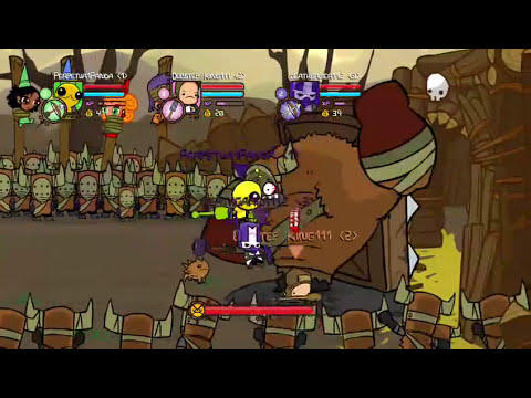 The Peasant Is OP(Castle Crashers W/ Friends)