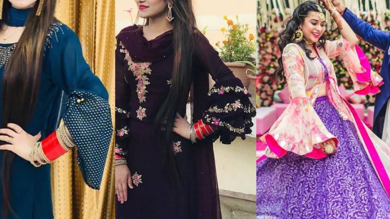 Top trendy bell sleeves,double layer sleeve designs/for kurties #bellsleeves#harmanfashion