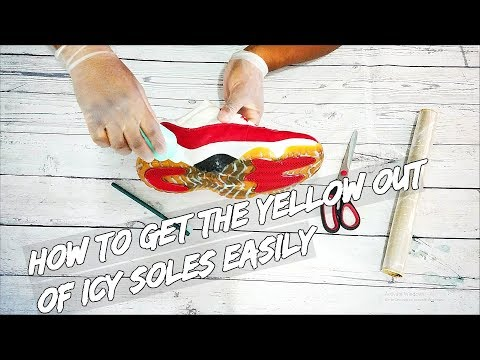 How To Get The Yellow Out Of Icy Soles Easily
