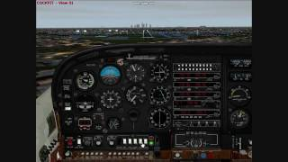 Flight Simulator 2000: Approach and landing at Chicago Midway (KMDW)