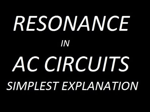 RESONANCE IN AC CIRCUITS !! RESONANT FREQUENCY AND BANDWIDTH !!