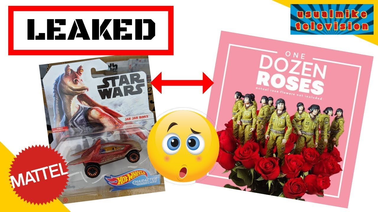 Hot Wheels Star Wars Jar Jar Binks Character Cars Mint on Card