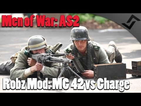 Men of War: Assault Squad 2 - Robz Mod - MG 42 vs Russian Charge  