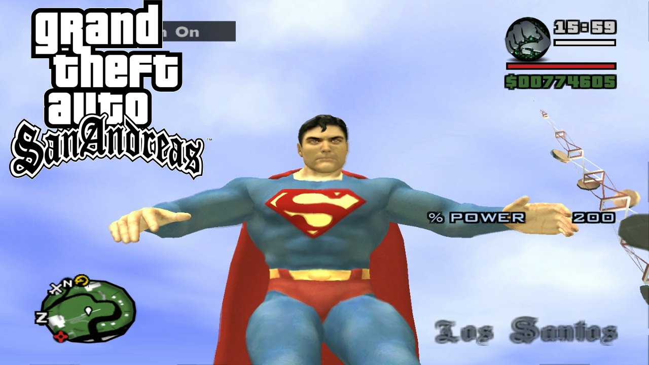 Gta san andreas superman powers youtube.