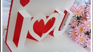 "Tarjeta Pop-Up ""Te Amo"" {FÁCIL} // Tarjetas para san valentin"