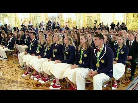 В Кремле чествовали победителей и призеров Олимпийских игр.