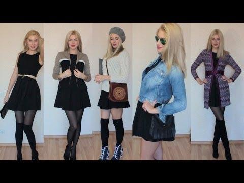 MUST HAVE *МАЛЕНЬКОЕ ЧЕРНОЕ ПЛАТЬЕ!* 8 вариантов как носить! little Black Dress