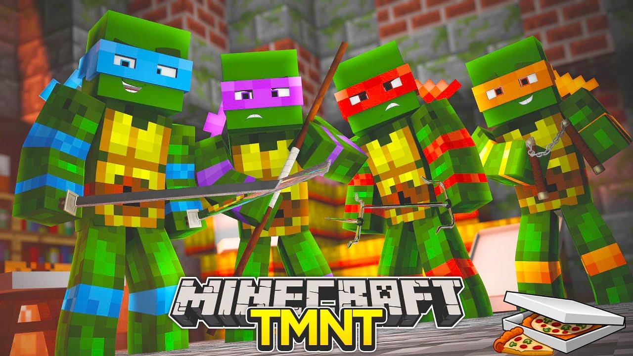 Minecraft Adventure Teenage Mutant Ninja Turtles The Movie