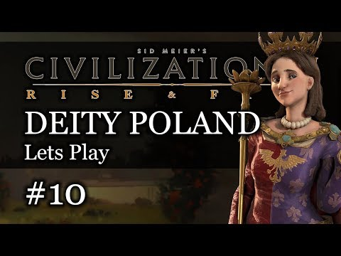 #10 Polish Deity Civ 6 Rise & Fall Gameplay, Let's Play Poland!
