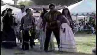 Caddo Native American Indians performing social dance