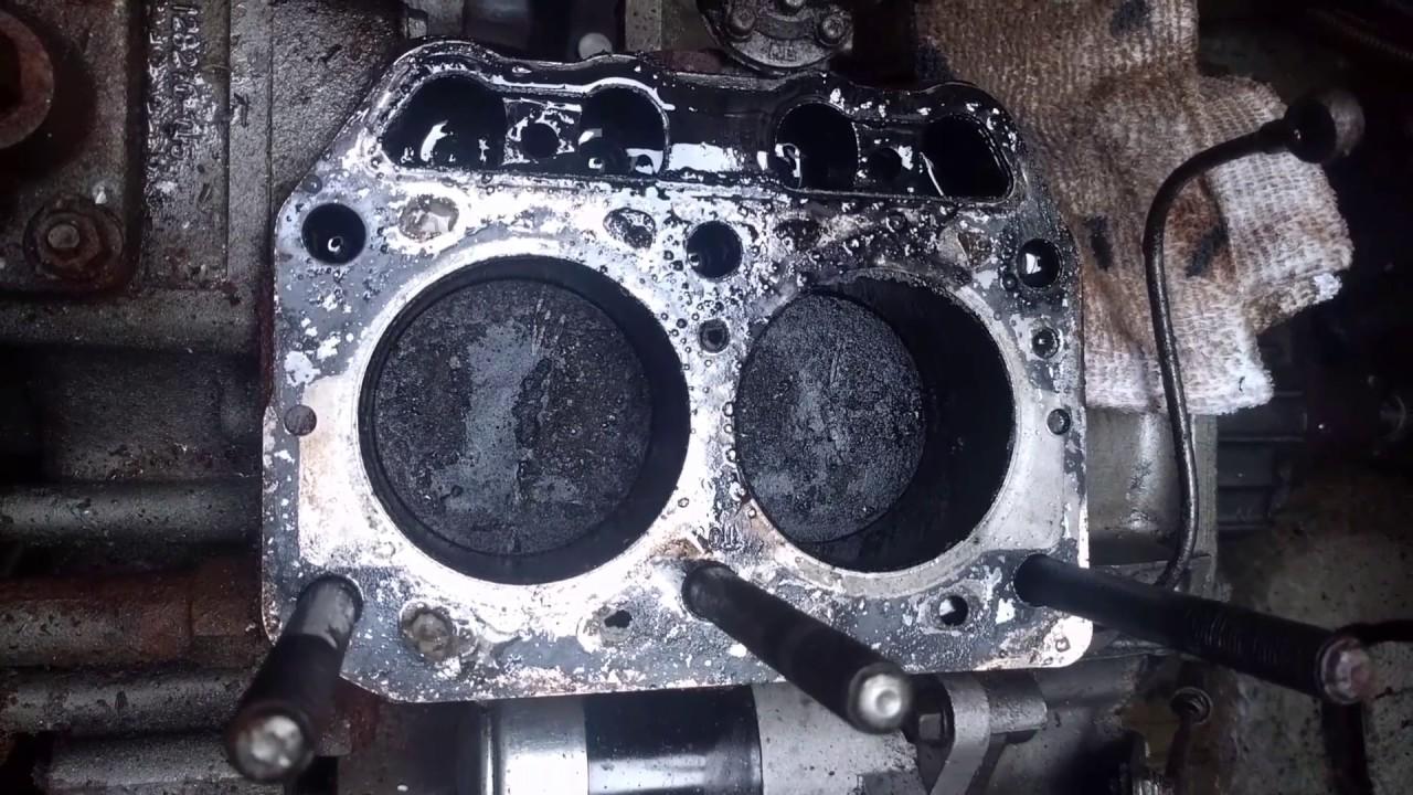 Yanmar 2GM Cylinder Head Removed